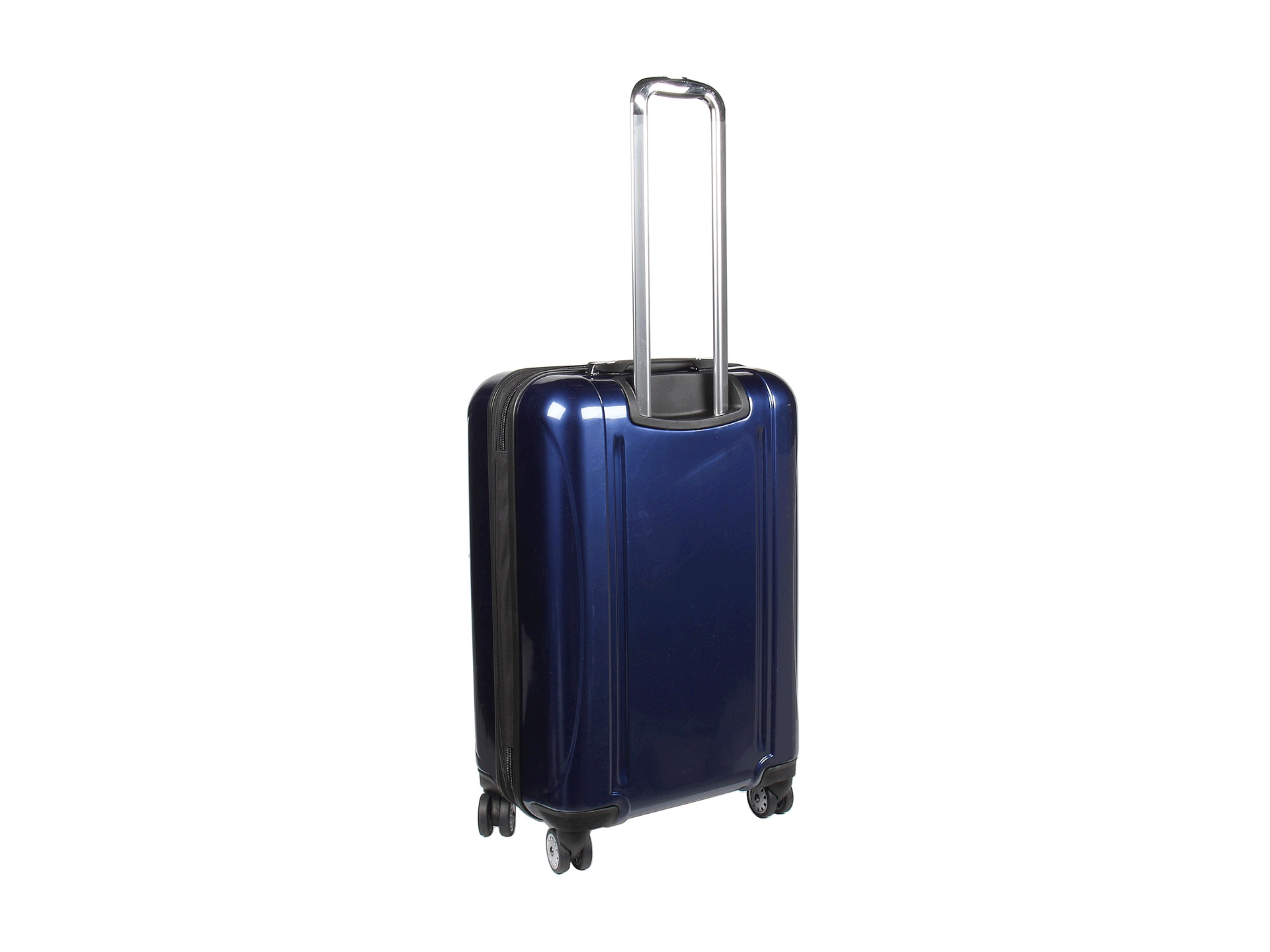 delsey helium aero 25 expandable spinner trolley in blue lyst. Black Bedroom Furniture Sets. Home Design Ideas