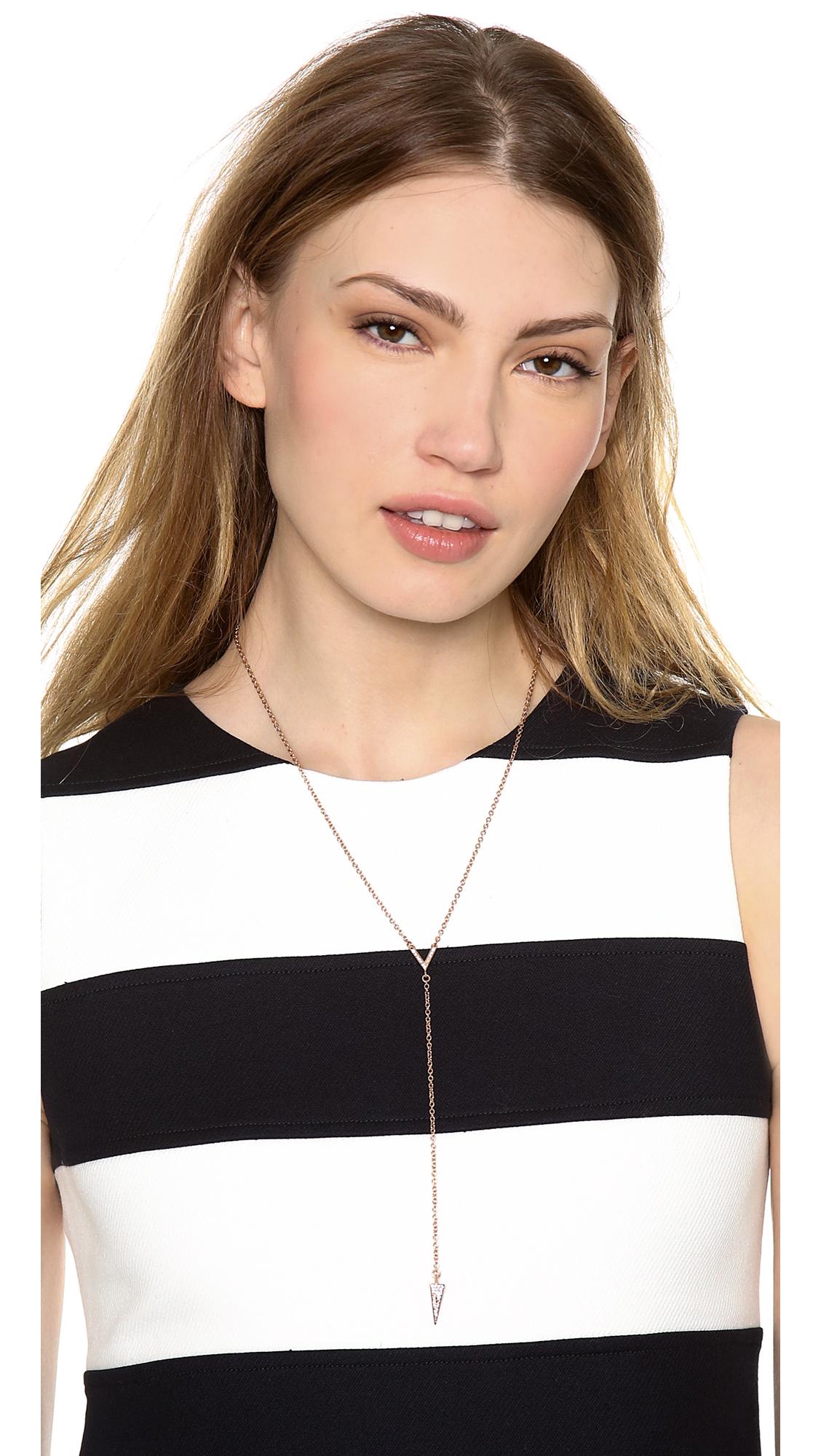 Lyst - Rebecca Minkoff Y Necklace in Metallic