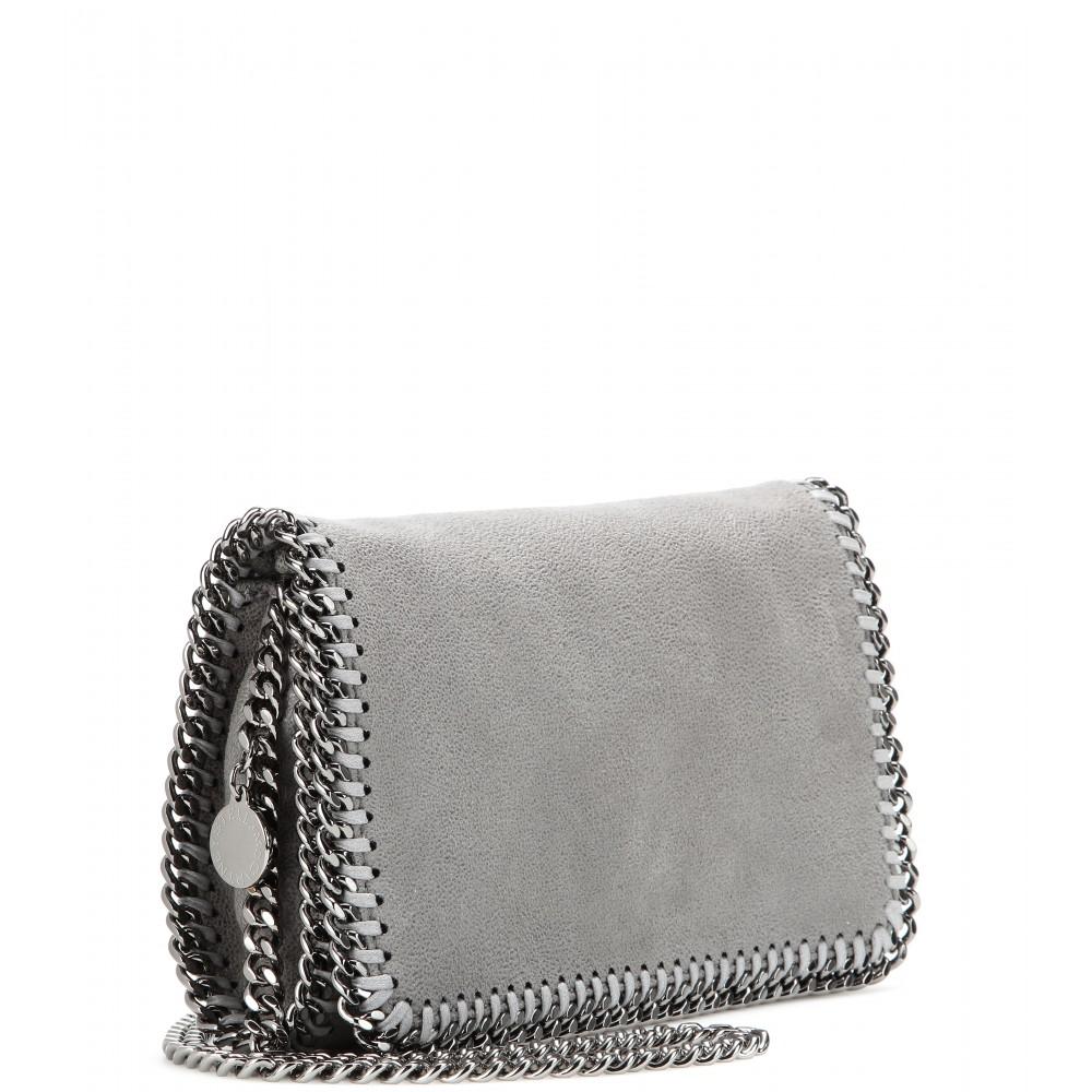 a8a32e58360 Lyst - Stella McCartney Falabella Shaggy Deer Mini Shoulder Bag in Gray