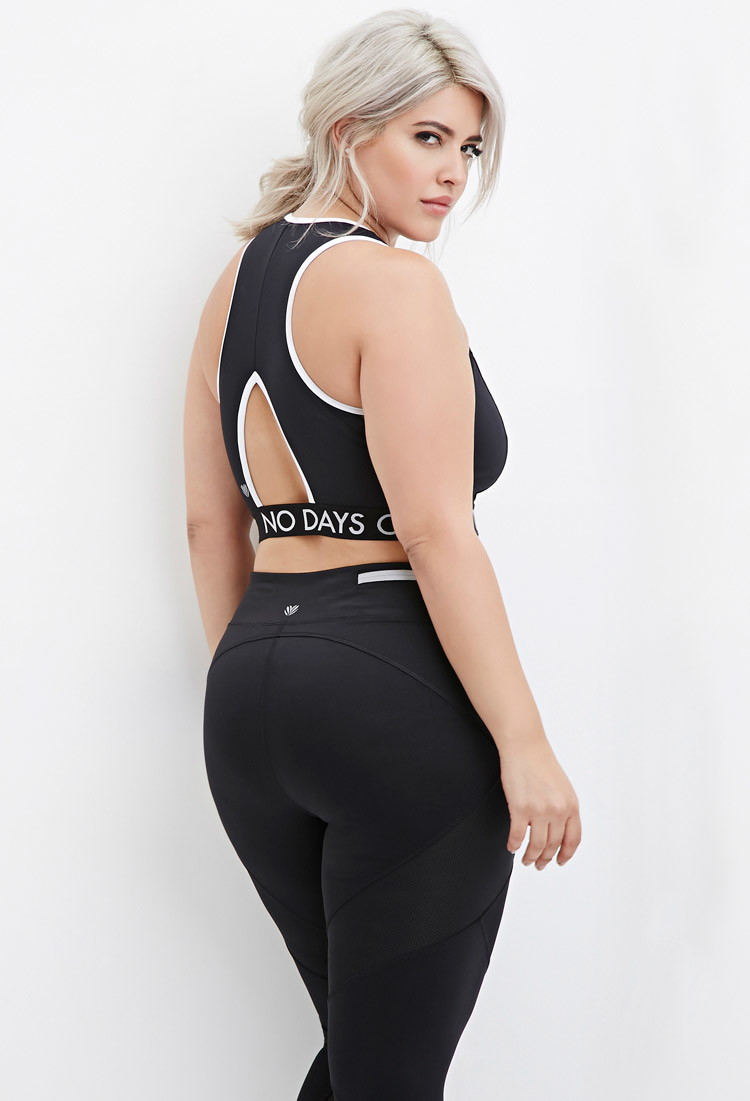 c647181d96a Forever 21 Plus Size No Days Off Sports Bra You ve Been Added To The ...