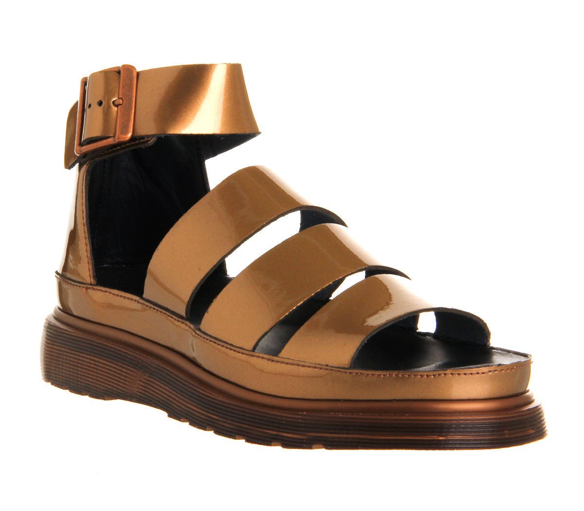 31656e25930c Lyst - Dr. Martens Shore Clarissa Chunky Strap Sandal in Metallic