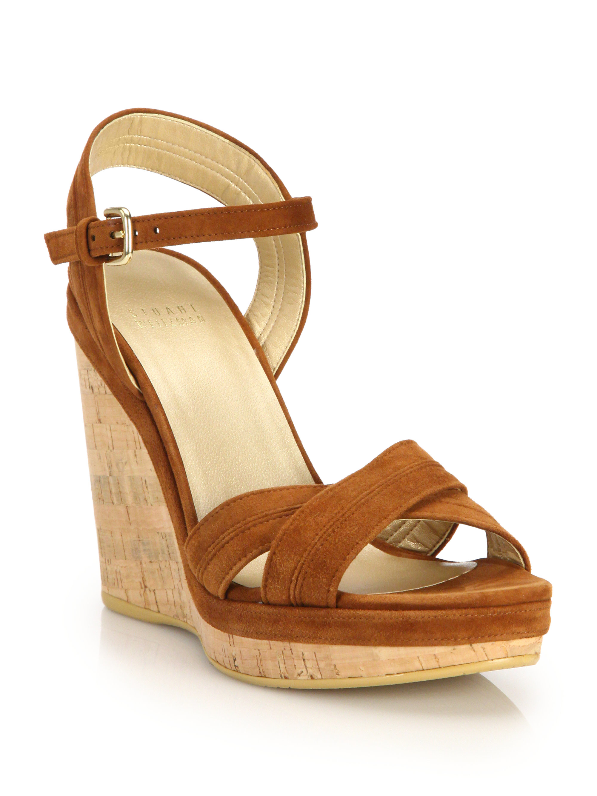 Stuart Weitzman Suede Wedge Mules cheap real eastbay classic cheap price discount latest RlEQvxPQ3