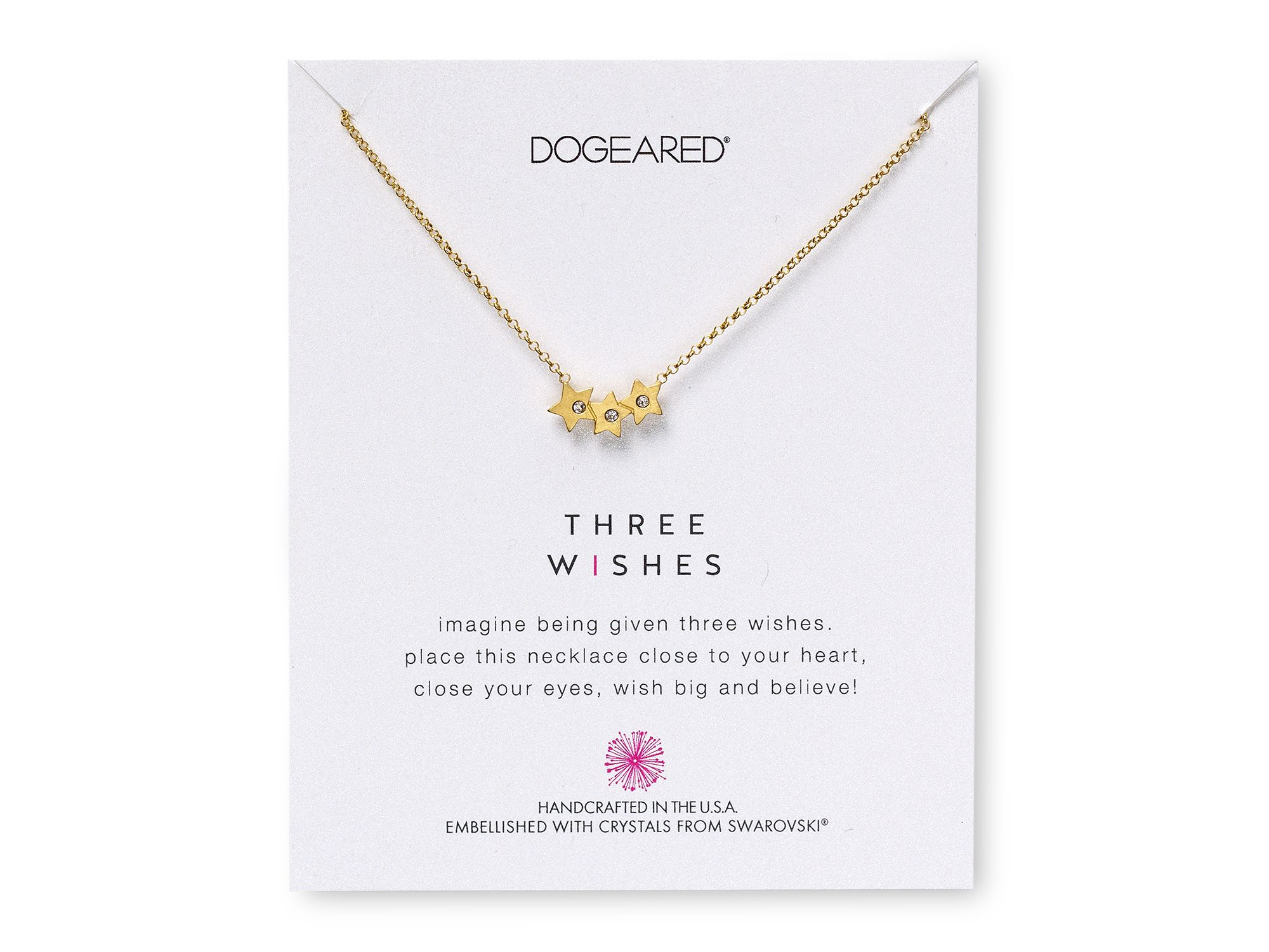 dogeared swarovski three wishes necklace 18 quot in