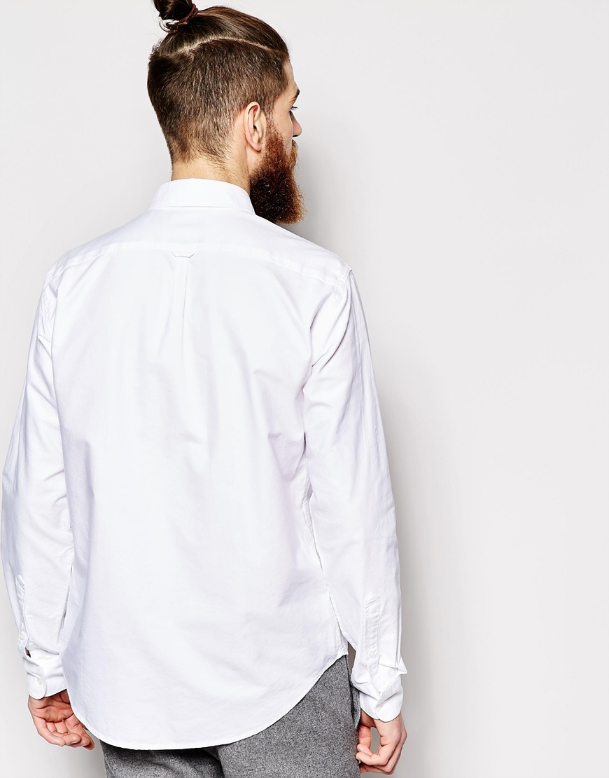 Lyst Timberland Oxford Shirt Slim Fit In White For Men