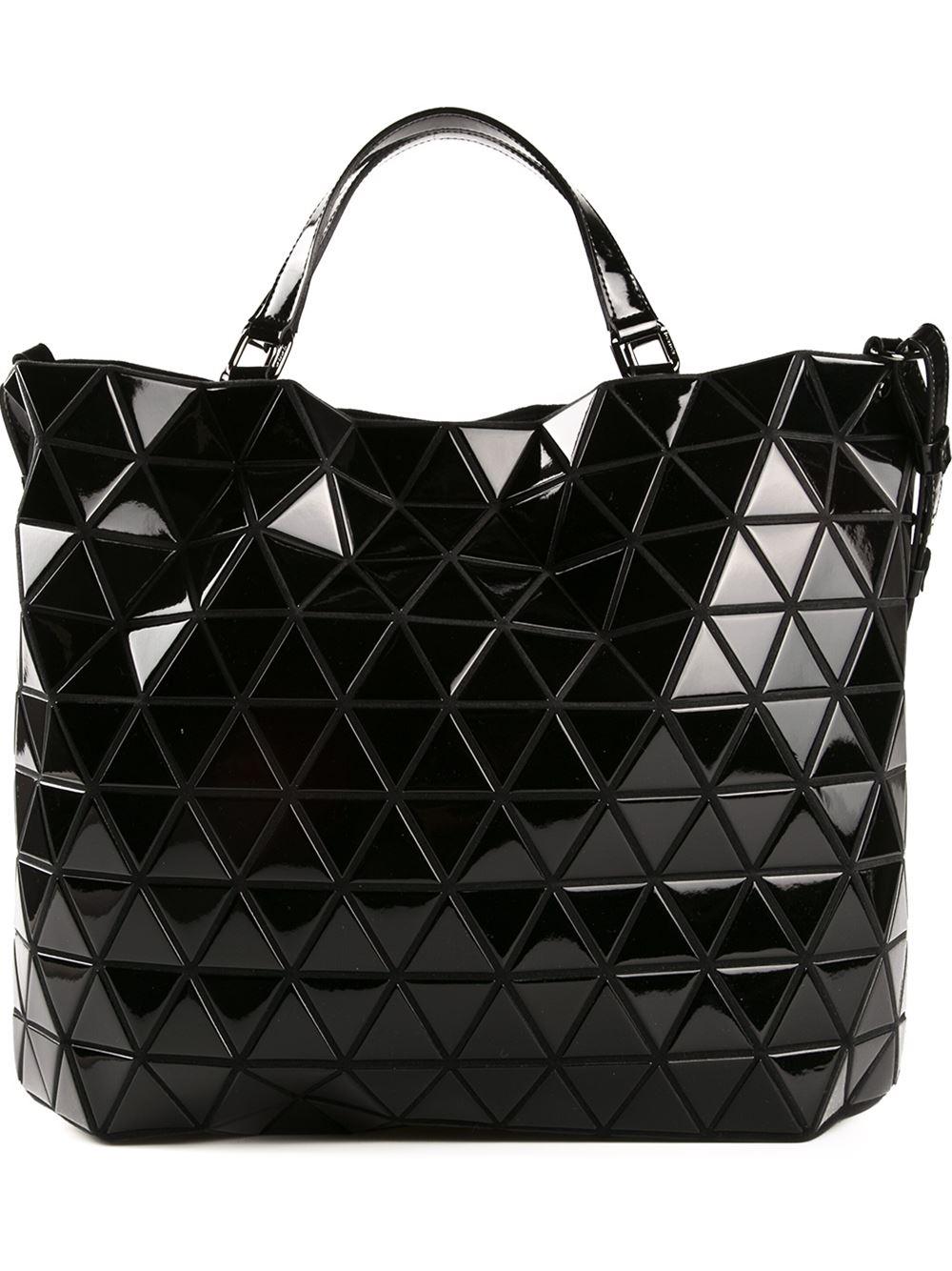 Bao Bao Issey Miyake Geometric Cross Body Bag In Black Lyst