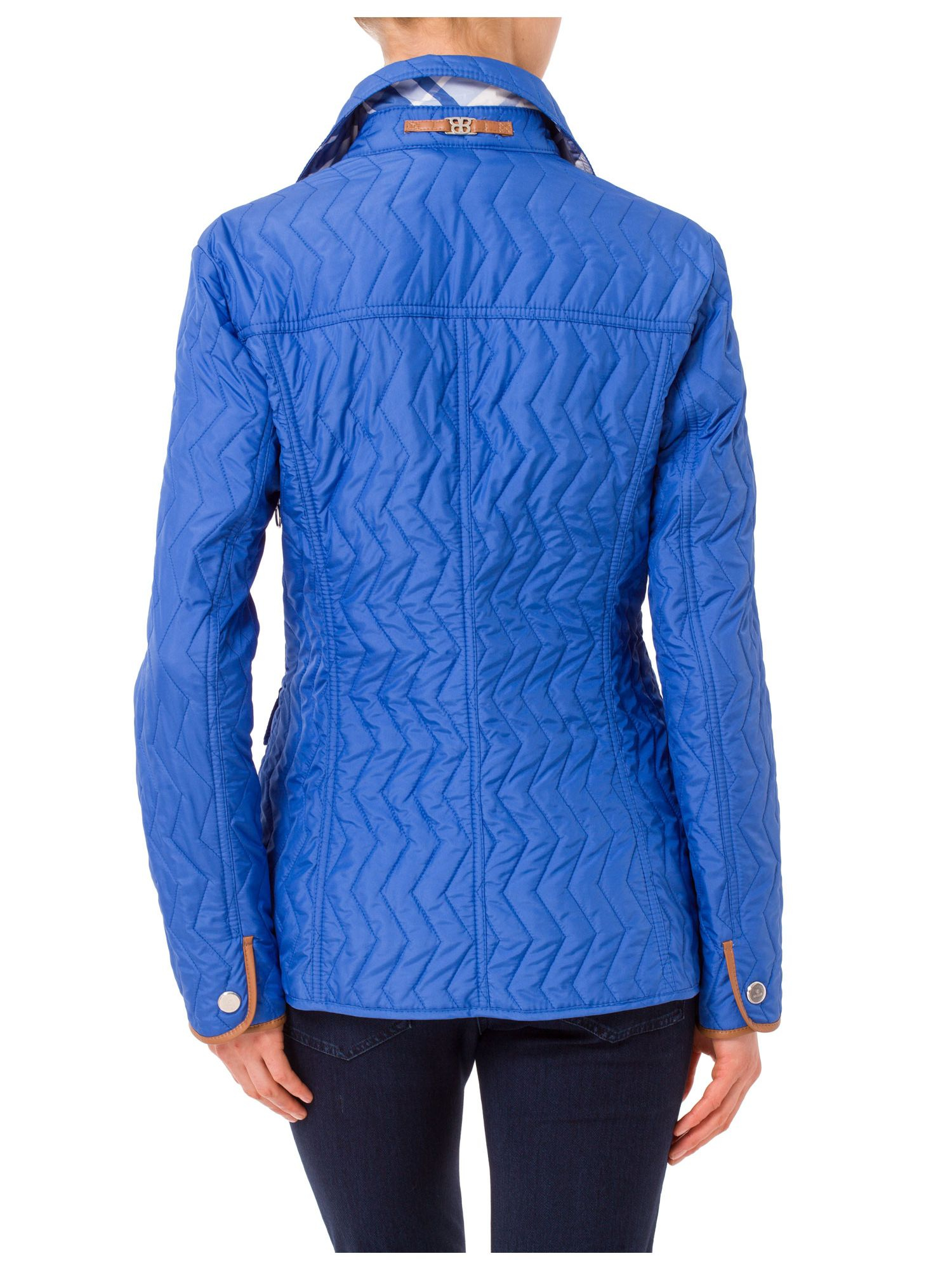 Basler Light Quilted Jacket With Piping In Azure Blue Lyst