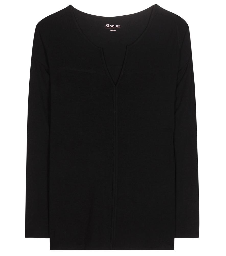 81hours verona jersey top in black lyst for Uniform verona