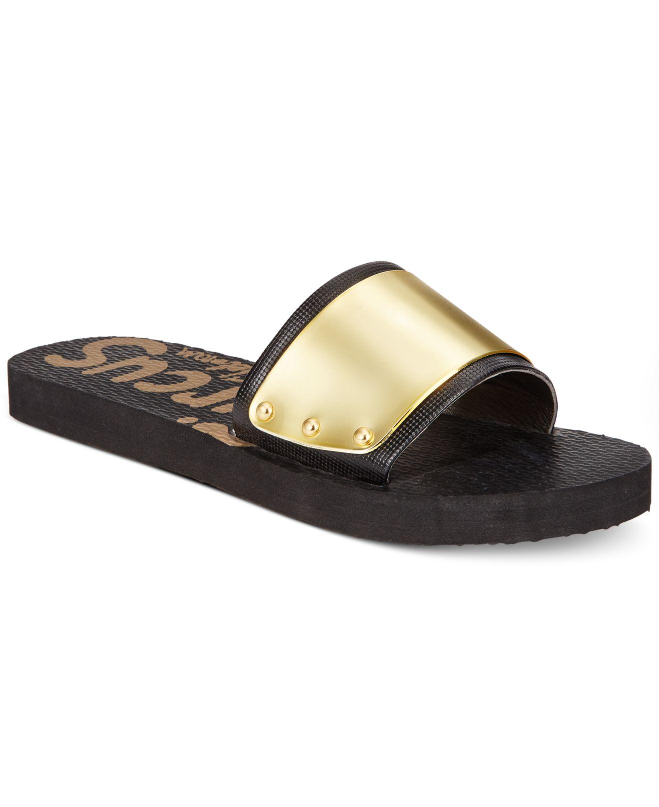 6a288ea83db5 Lyst Circus By Sam Edelman Madison Sport Flat Sandals In Metallic