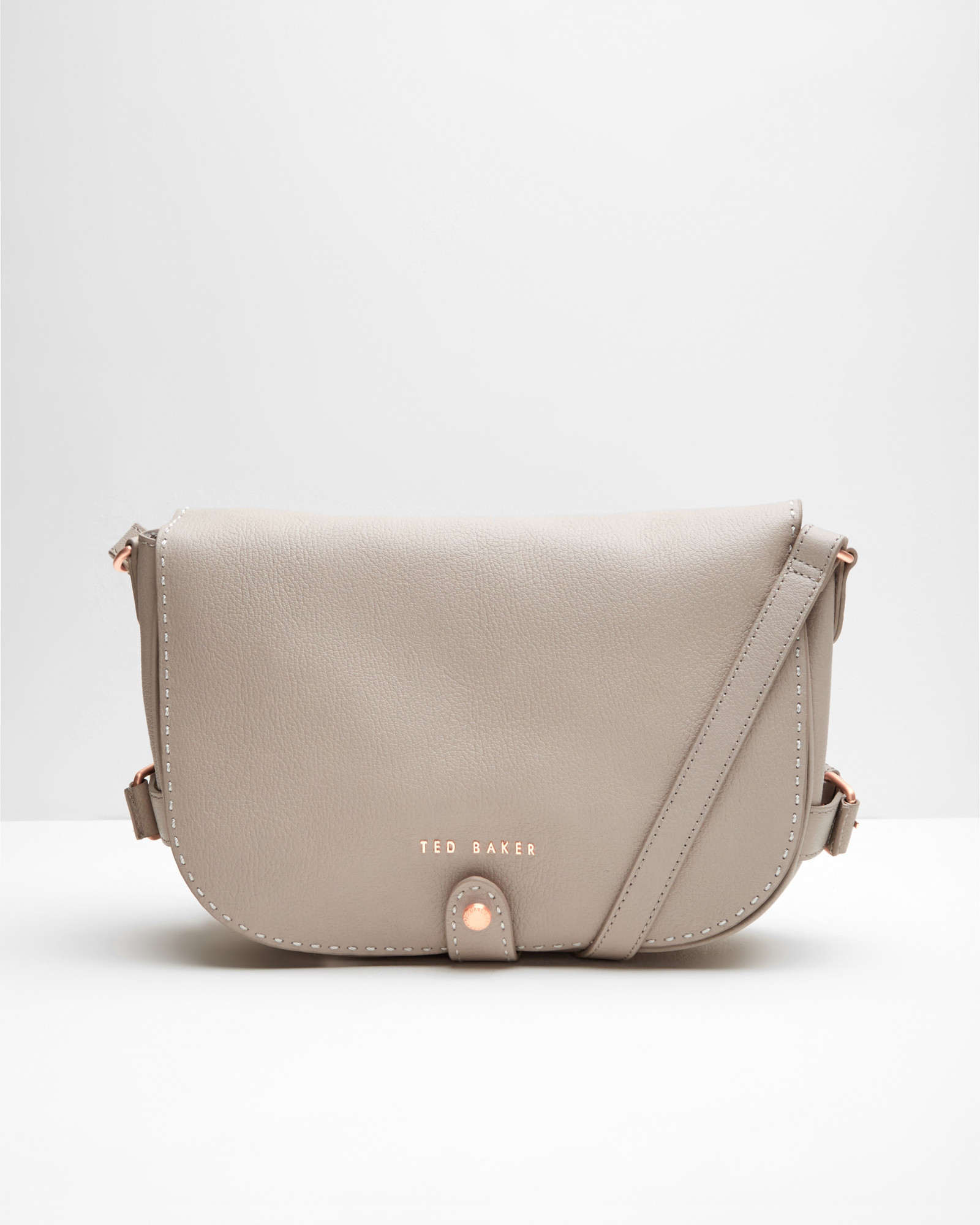 58358fb53 Lyst - Ted Baker Leather Crossbody Saddle Bag in Natural
