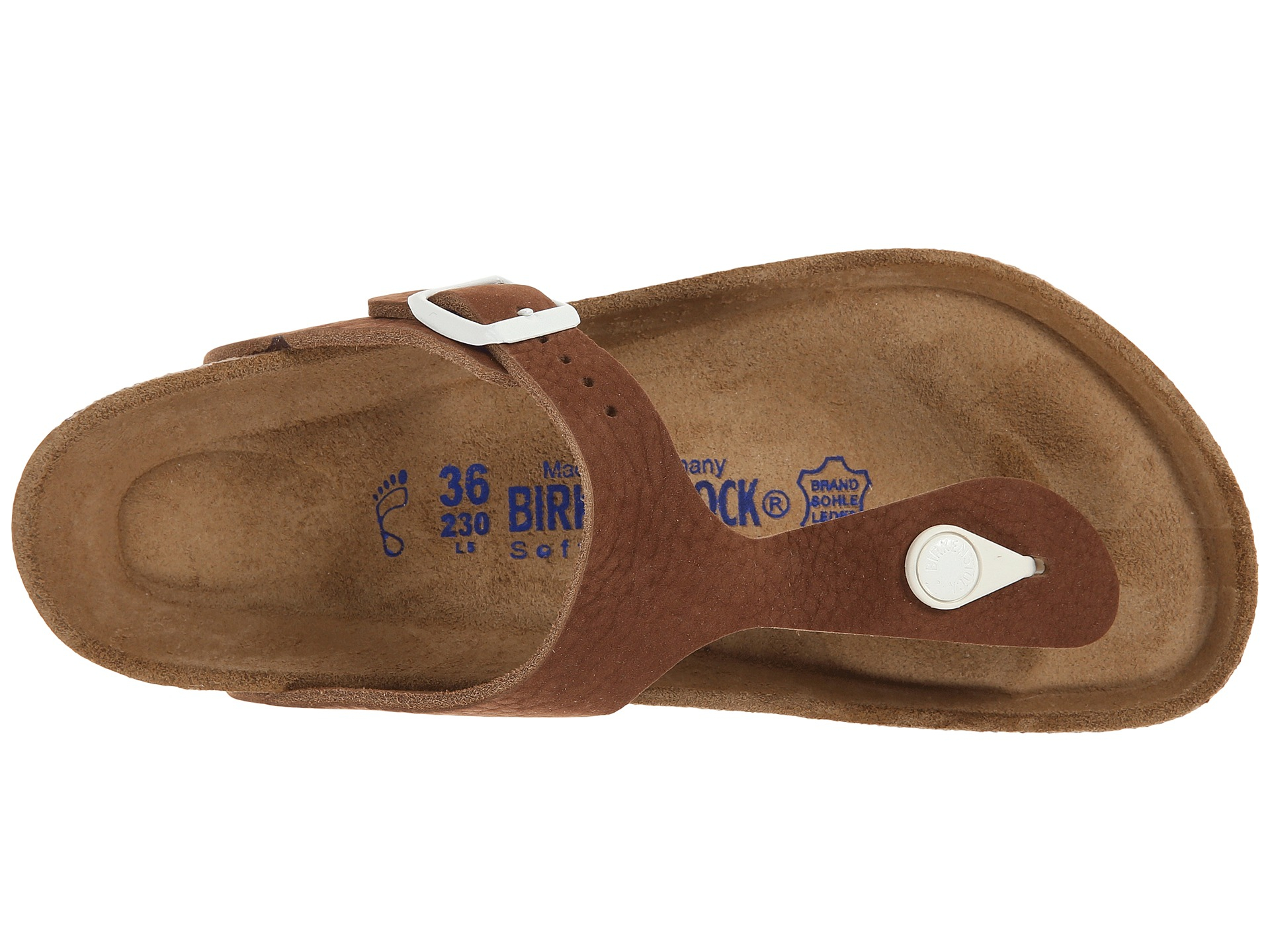 58c228b8d3a Lyst - Birkenstock Gizeh Soft Footbed Sport in Brown
