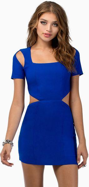 Tobi Be My Baby Bodycon Dress In Blue Lyst