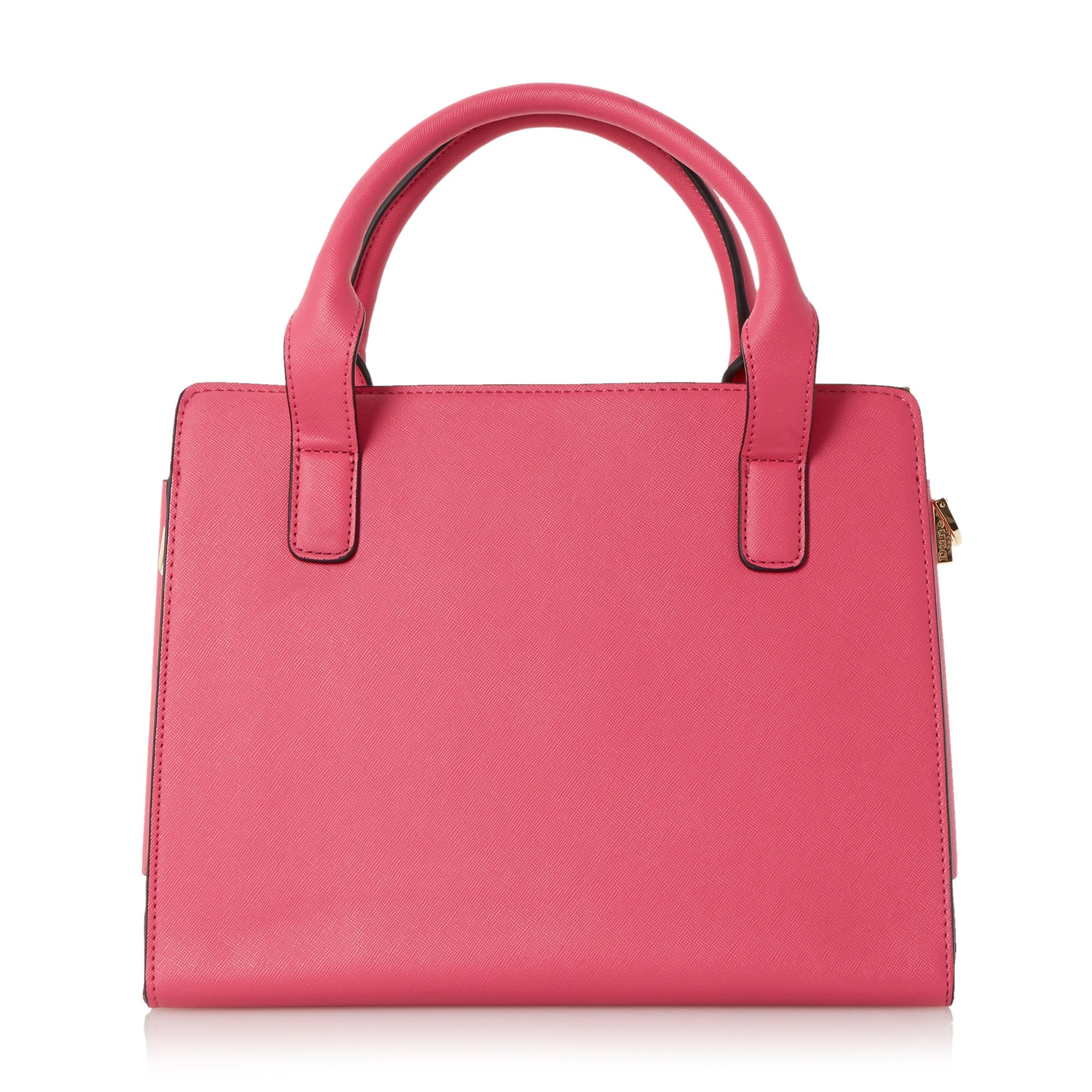 Dune Synthetic Delaney Fold Over Panels Tote Bag in Fuchsia (Pink)