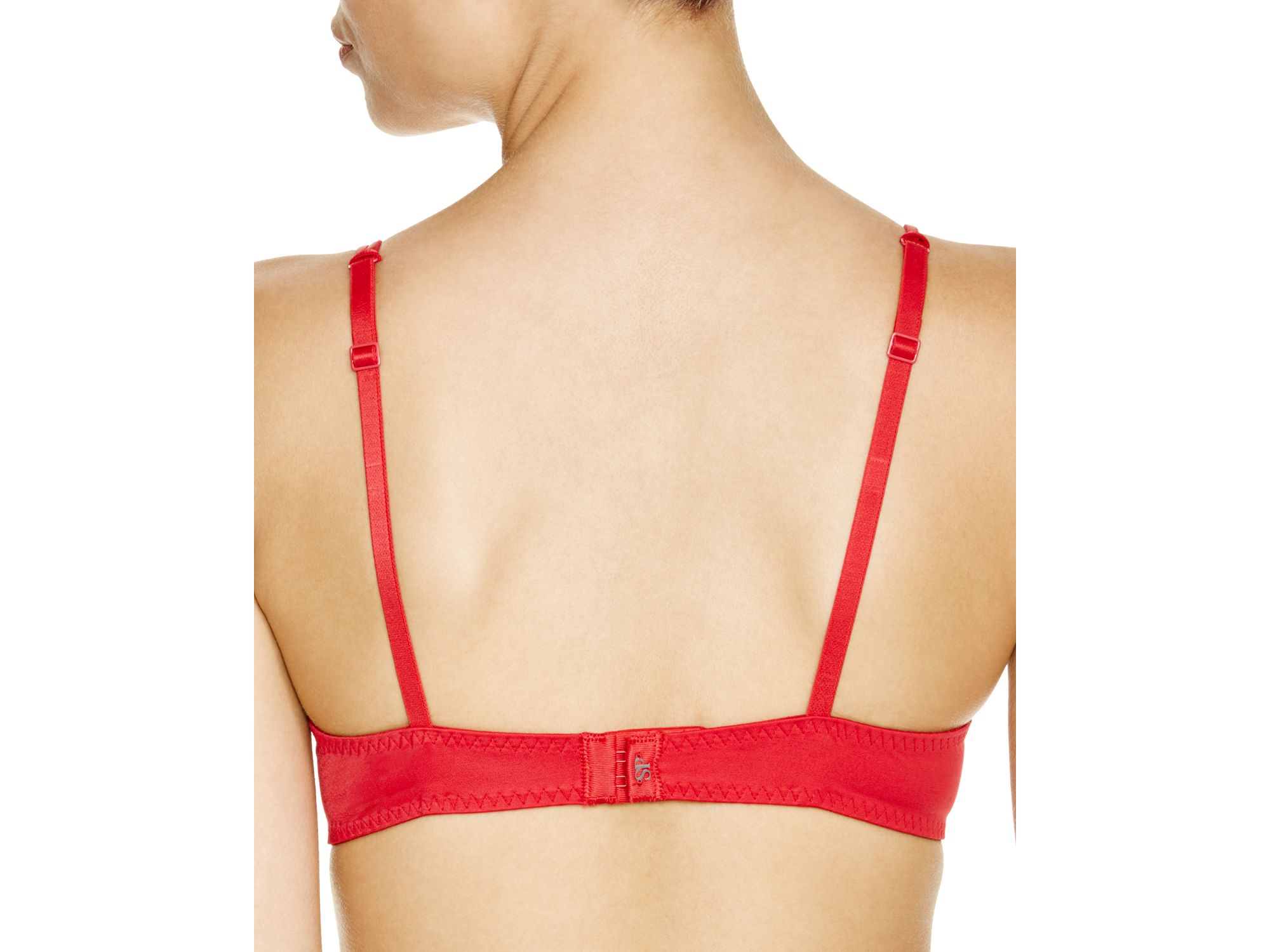 NWT Simone Perele French Ruby Red DELICE Embroidered Underwire Bra