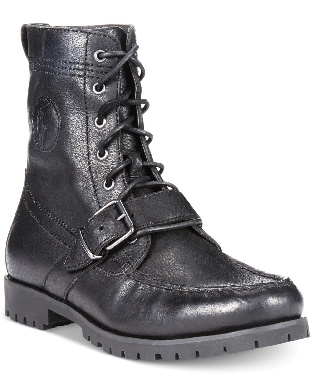 polo ralph ranger boots in black for lyst