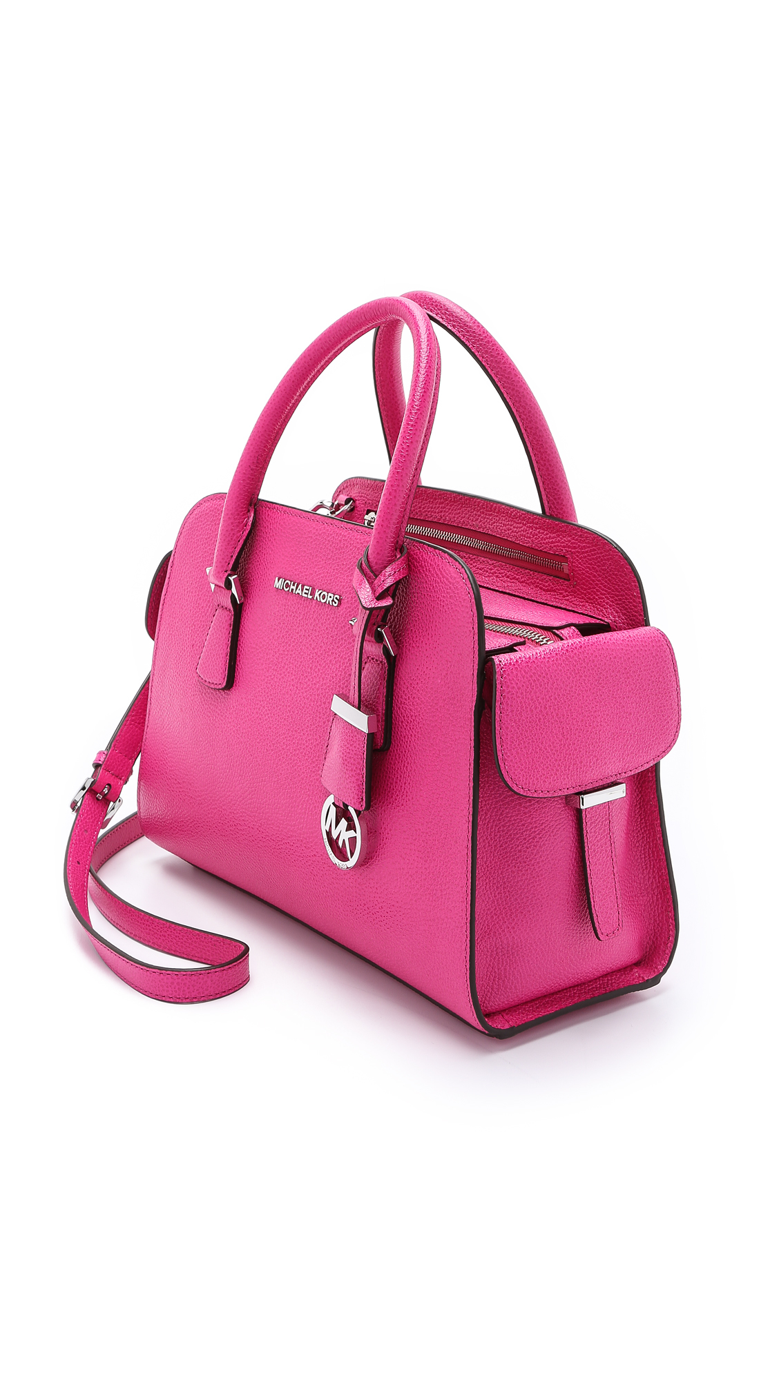 2c58d3084dd6 ... coupon code for lyst michael michael kors harper medium satchel  raspberry in pink b391d 20b02