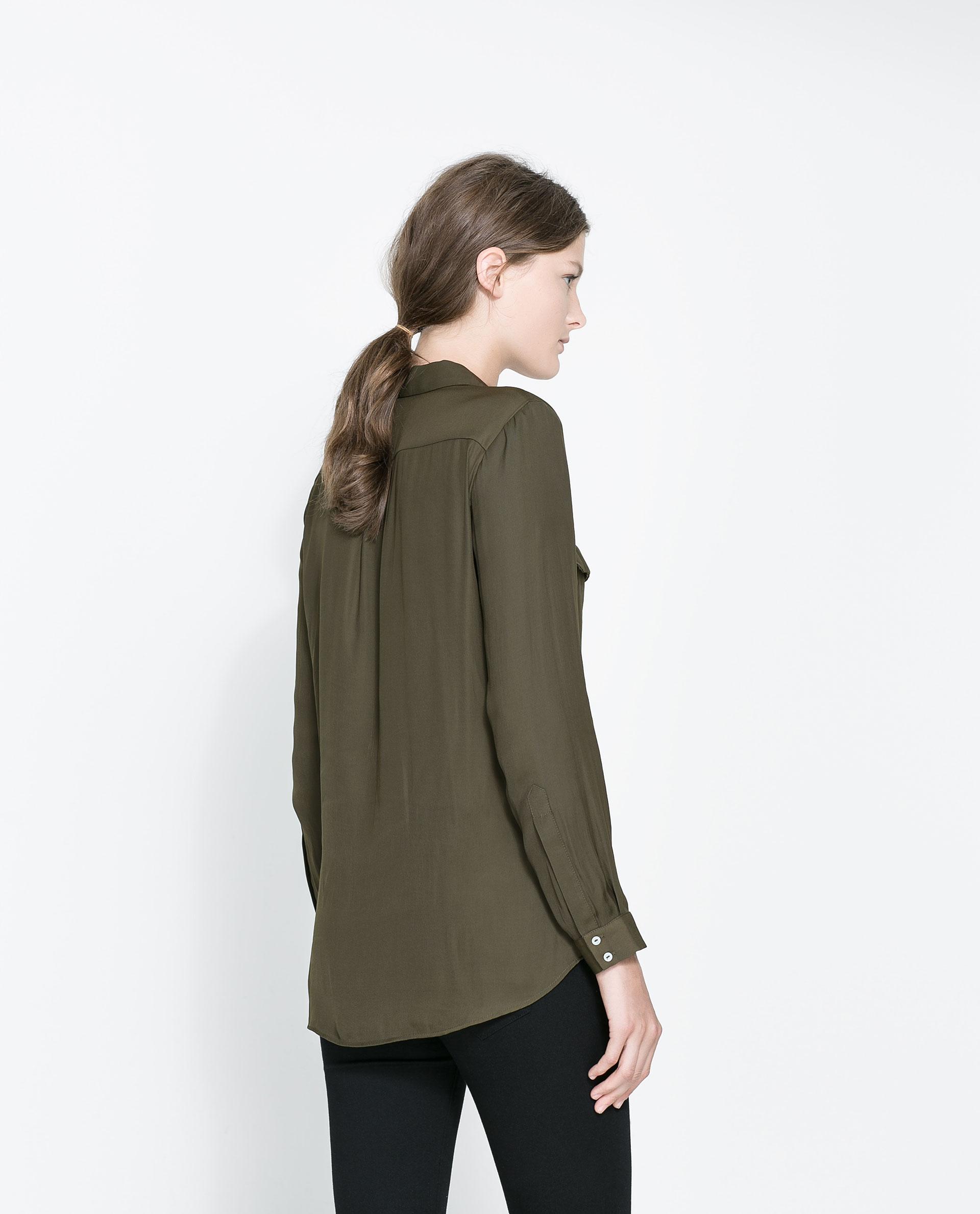 Zara Shirt Style Blouse 7