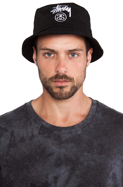 Lyst Stussy Stock Lock Bucket Hat In Black For Men