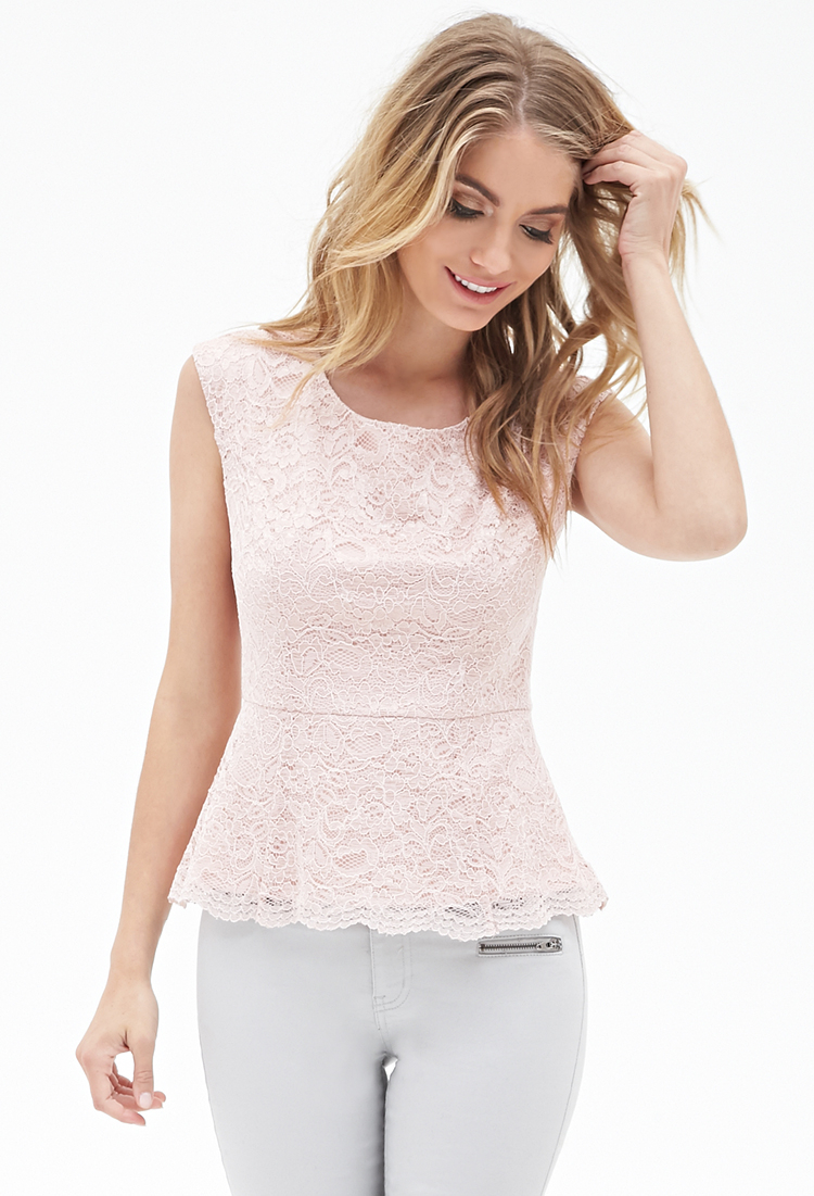 Rent Floral Lace Peplum Top by Marchesa Notte for $70 only at Rent the Runway.9/