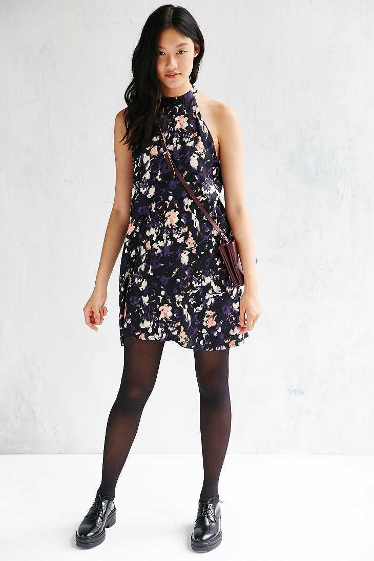 Native Youth Grunge Floral Swing Dress In Purple | Lyst