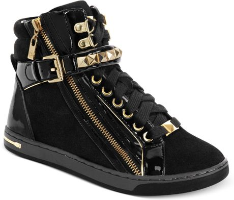 michael kors michael glam studded high top sneakers in. Black Bedroom Furniture Sets. Home Design Ideas