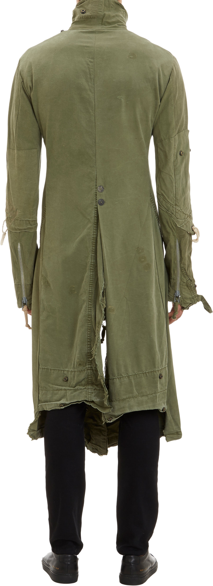 Greg Lauren Vintagetent Batman Duster Coat In Green For