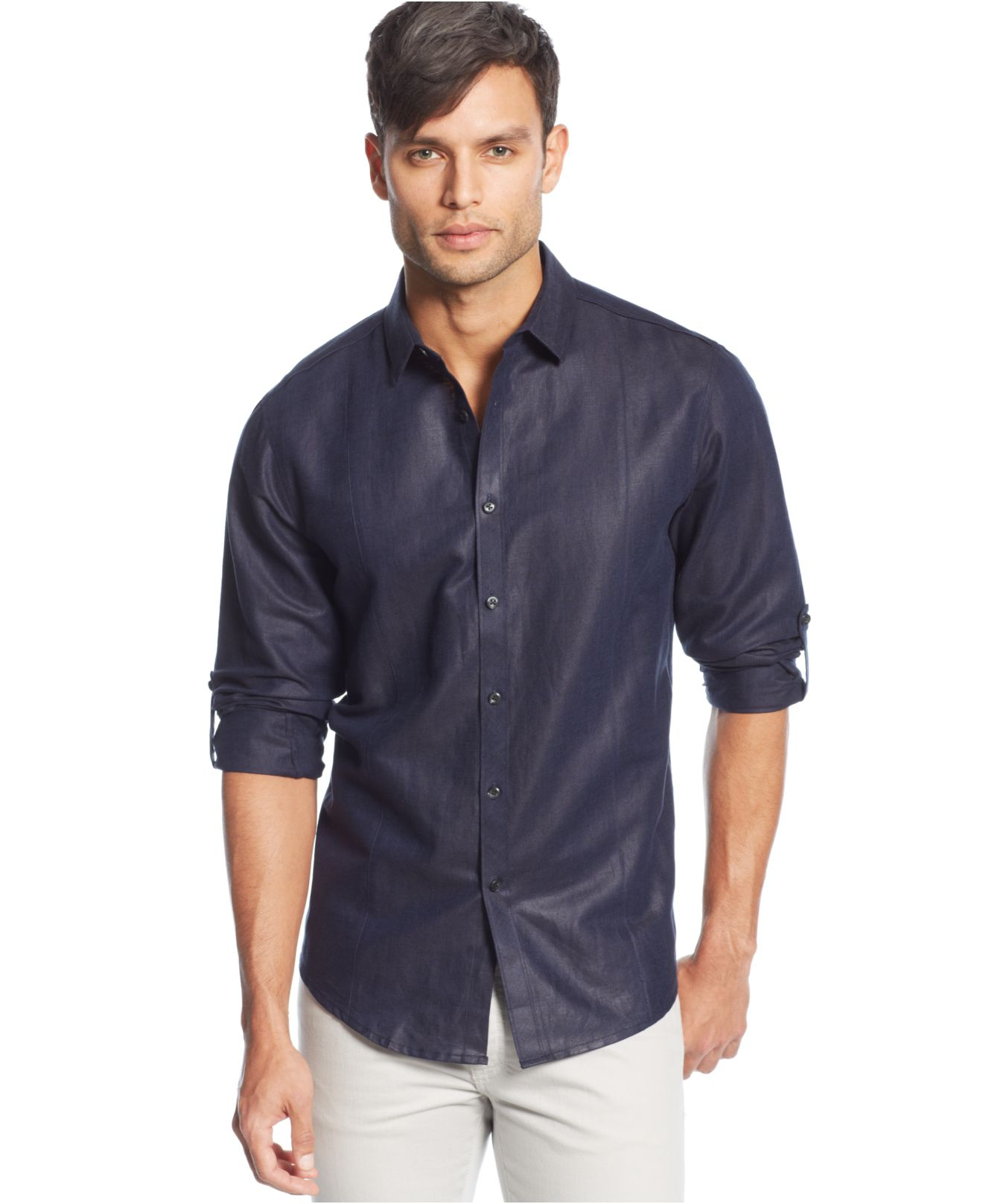 Inc International Concepts Big And Tall Long Sleeve Linen