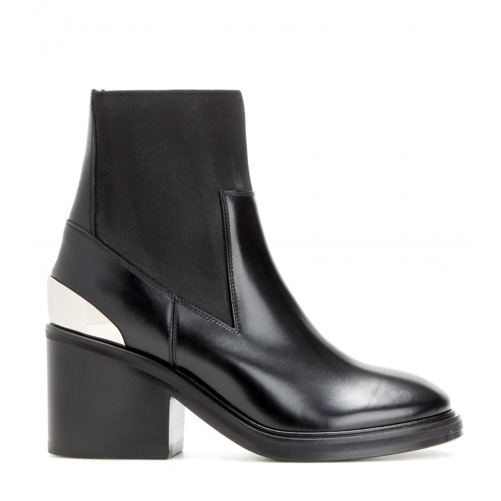 b15e7dcf044 Acne Studios Dion Leather Ankle Boots in Black - Lyst
