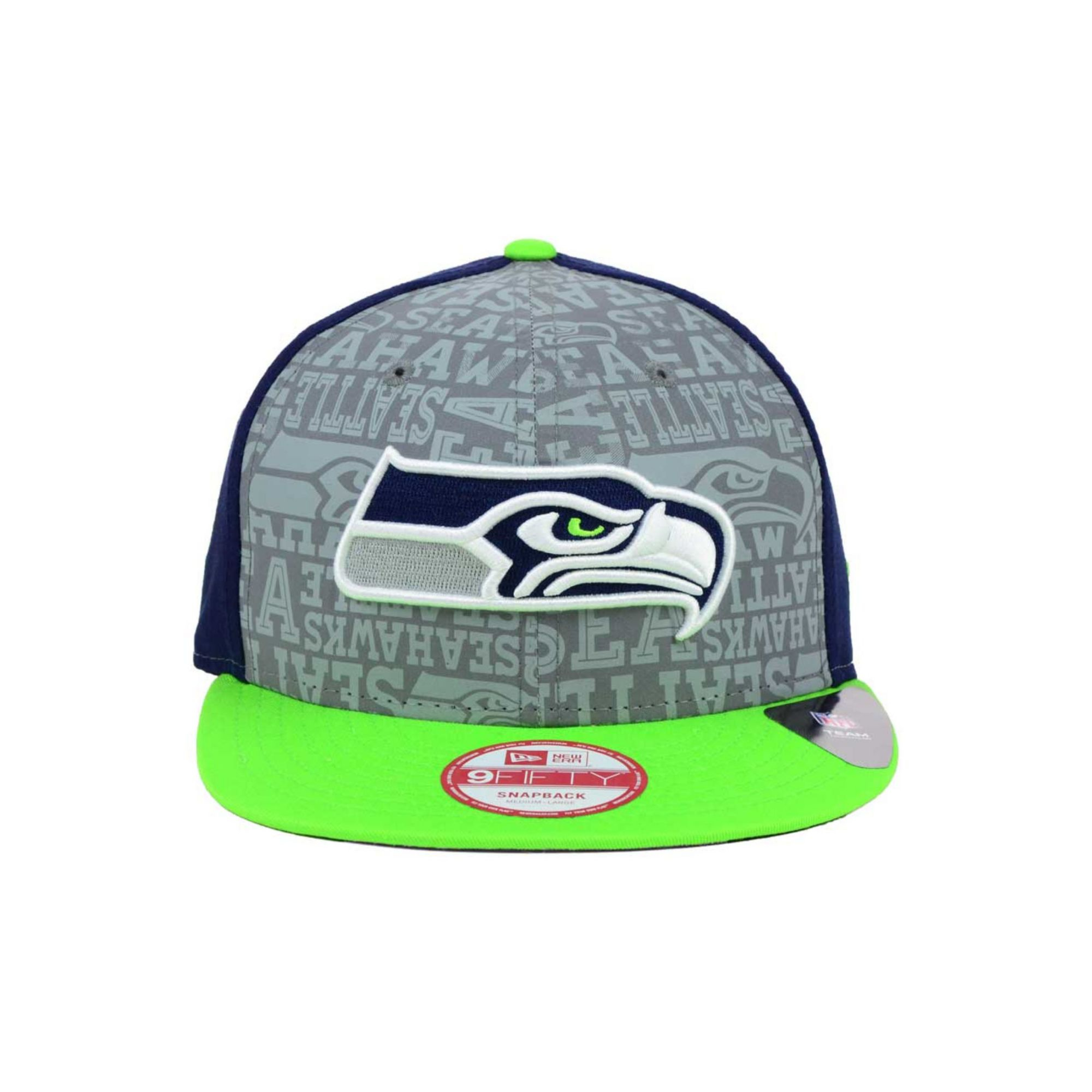 the latest 77d89 ceffd KTZ Seattle Seahawks Nfl Draft 9fifty Snapback Cap in Green for Men ...