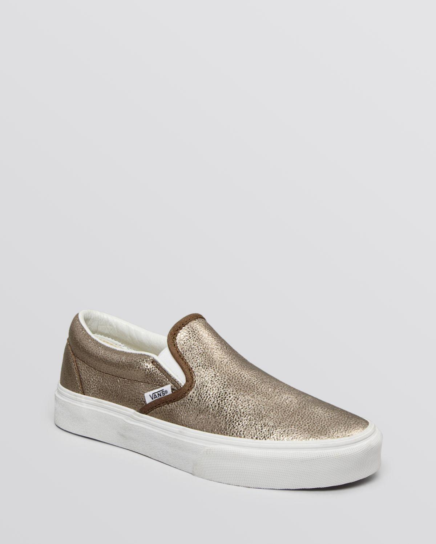 77afa3f1 Vans Unisex Flat Slip On Sneakers - Classic Metallic