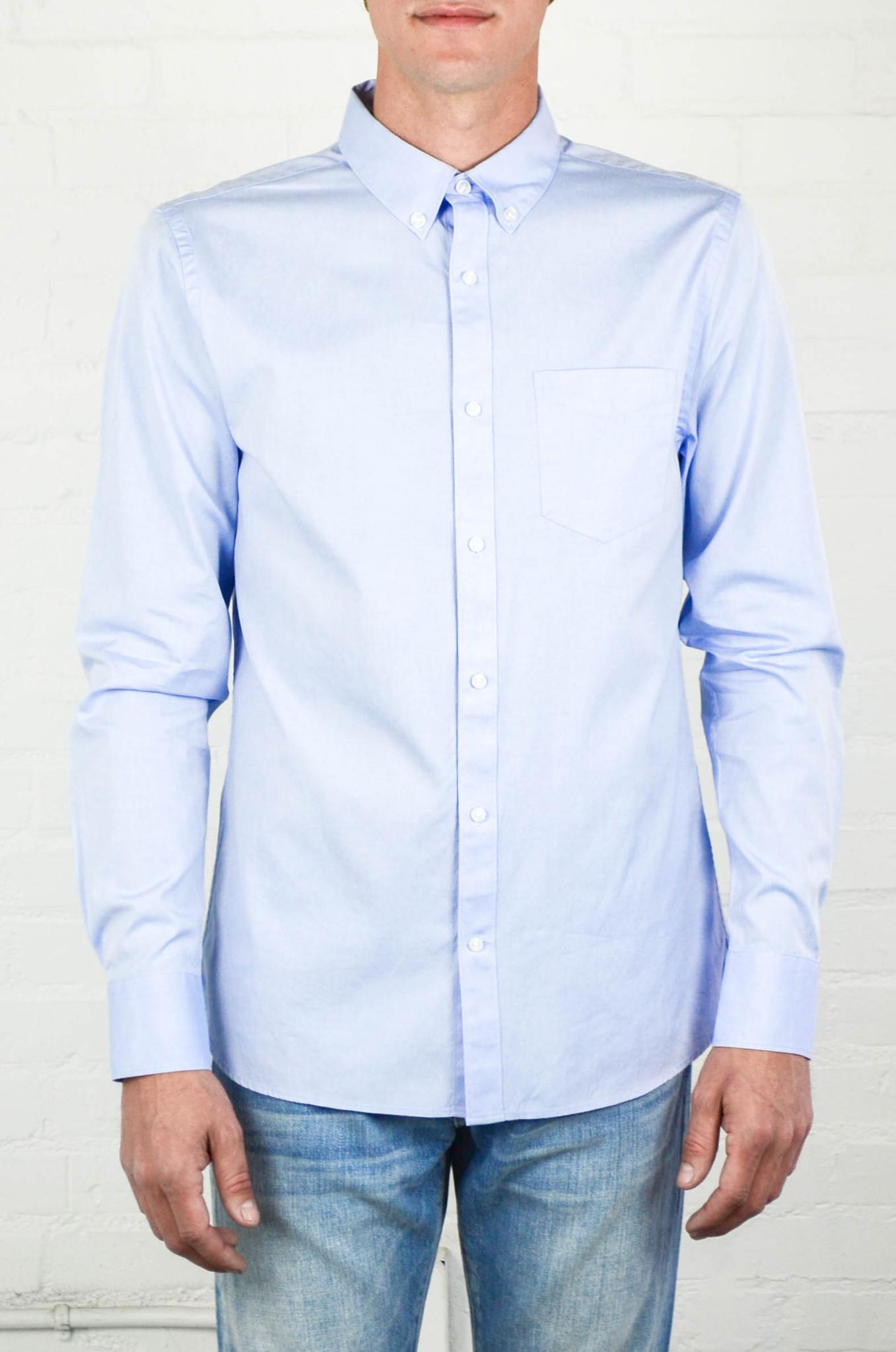 Lyst Frame Navy Button Down Shirt In Blue For Men