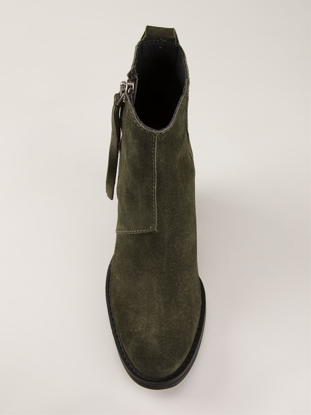 Acne 'Pistol' Ankle Boots in Green | Lyst