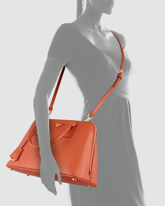 d372343dd9 Prada Medium Saffiano Promenade Bag in Orange (Orange (Papaya))
