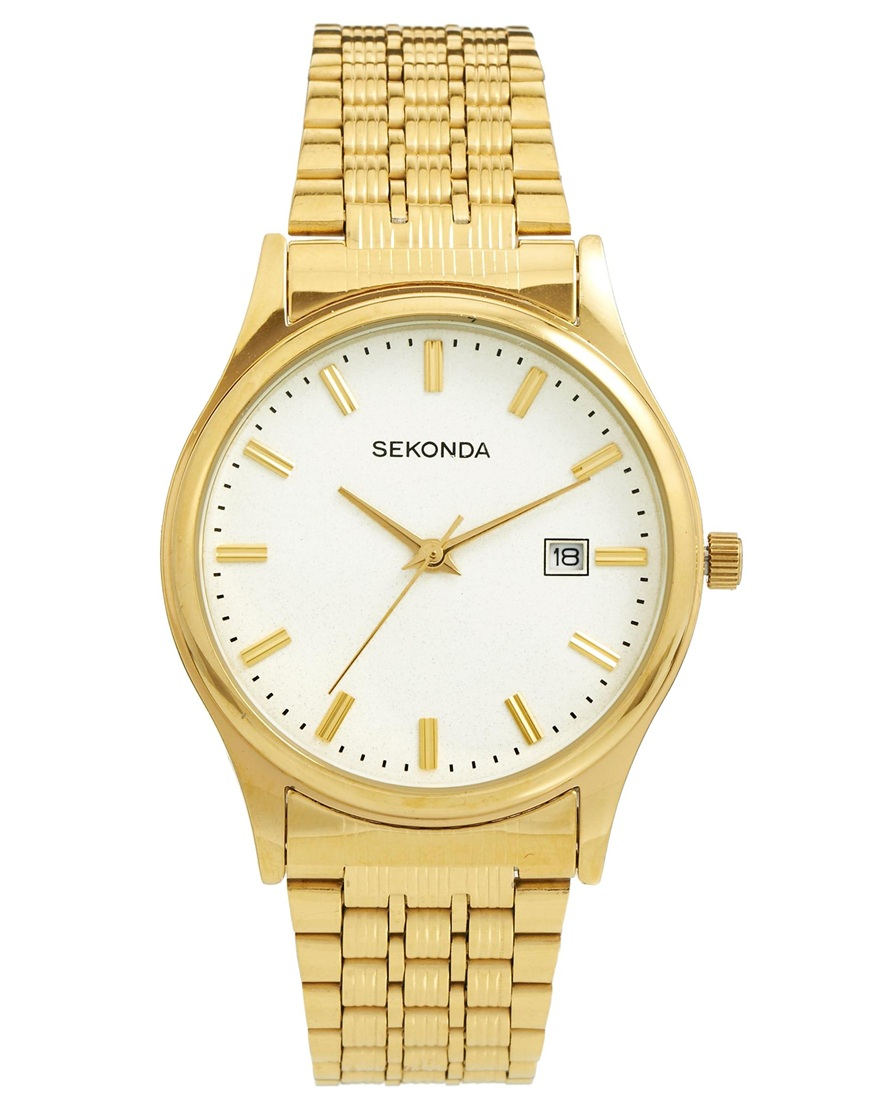 sekonda gold bracelet in metallic for lyst