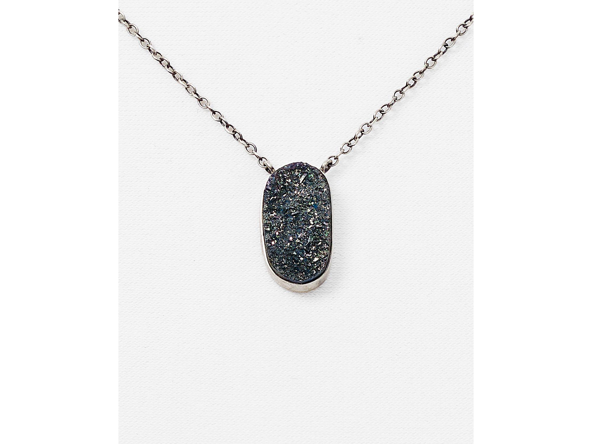 Lyst chan luu druzy agate pendant necklace 17 in metallic gallery aloadofball Choice Image