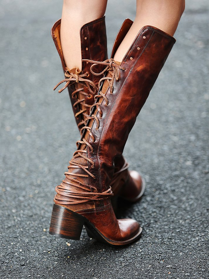 Free people Freebird By Steven Womens Coal Tall Boot in Brown | Lyst