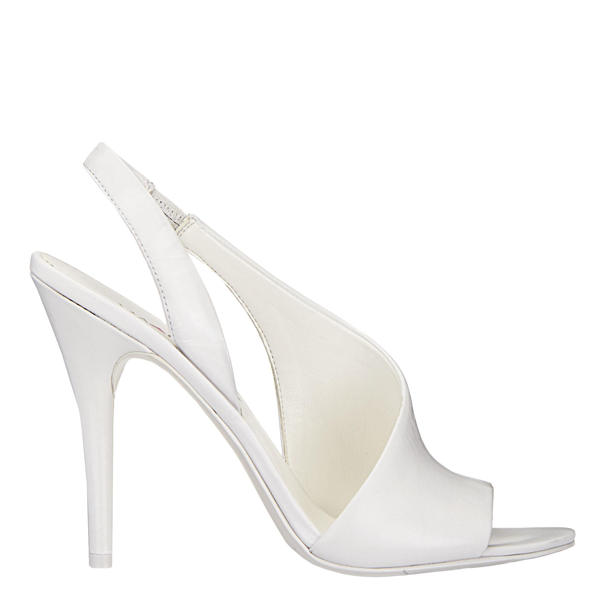 Nine west Aila Sling Back Heels in White | Lyst