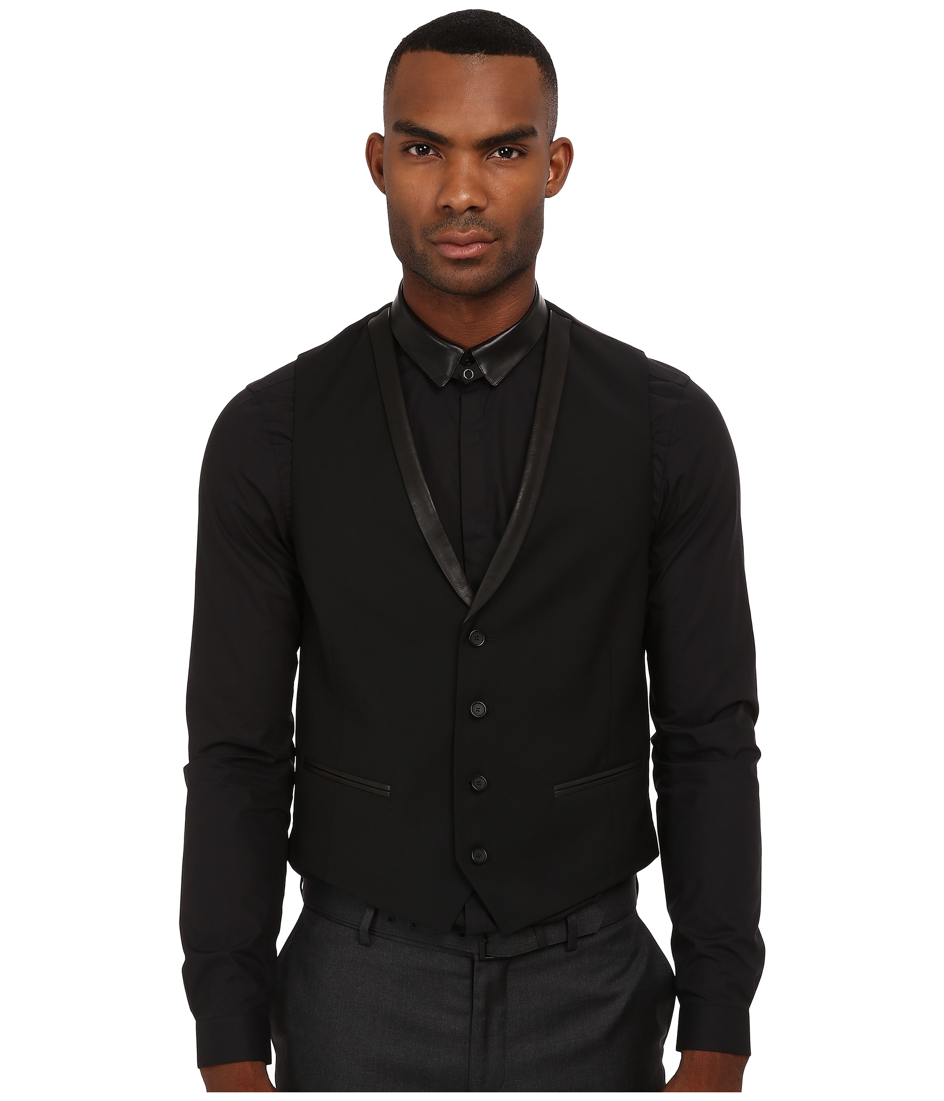 Black t shirt with suit - Gallery
