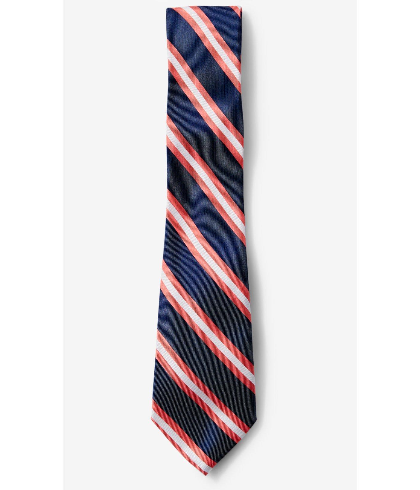 express narrow diagonal stripe silk blend tie in blue for