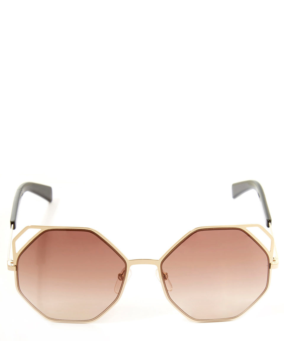 a859712cf0d Lyst - Marc By Marc Jacobs Gold-tone Octagon Metal Frame Sunglasses ...