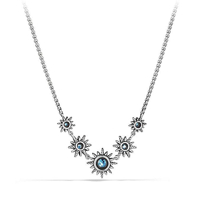 Lyst David Yurman Starburst Five Station Necklace In Blue