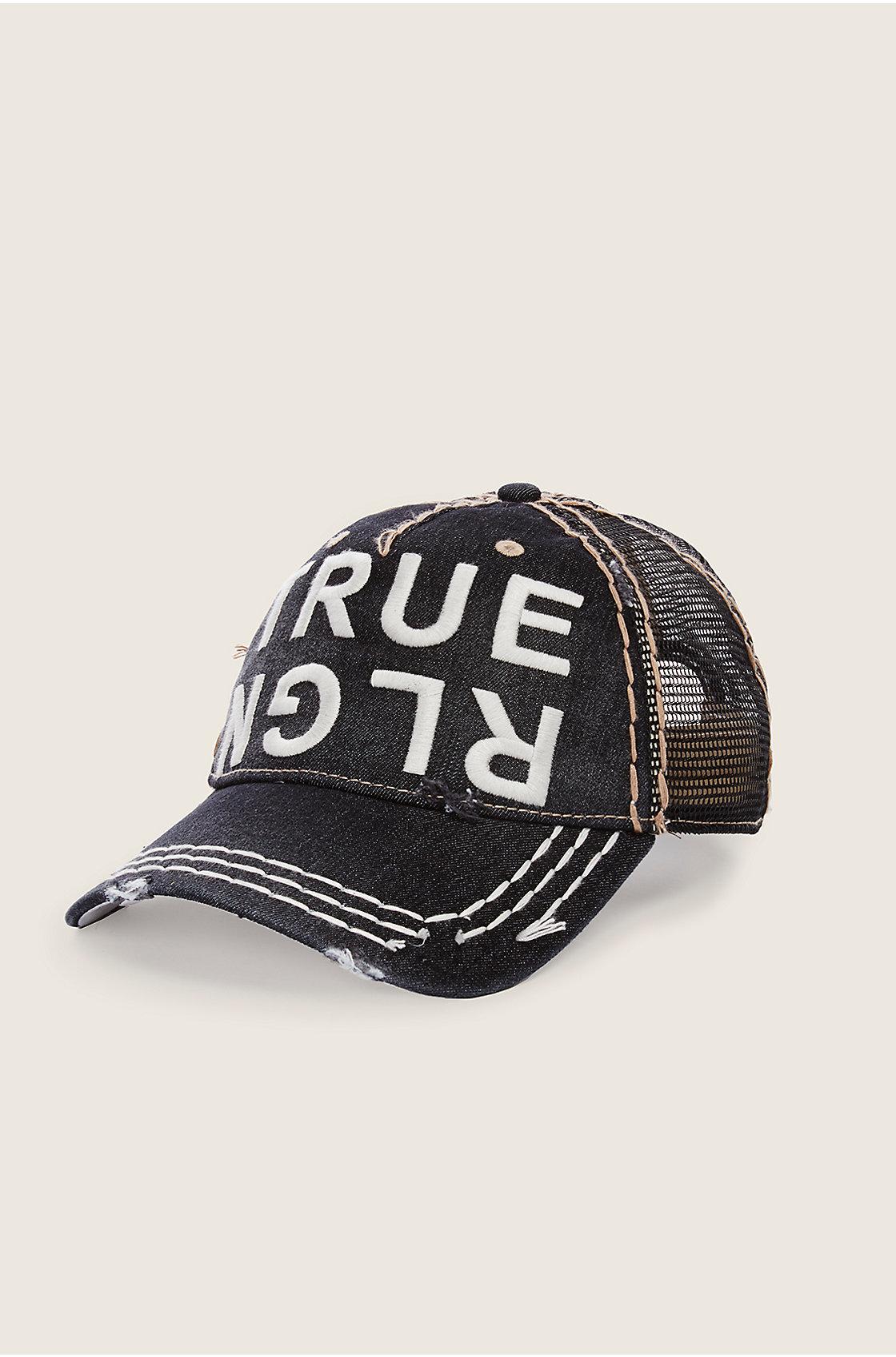 true religion tr denim baseball cap in black for men lyst. Black Bedroom Furniture Sets. Home Design Ideas