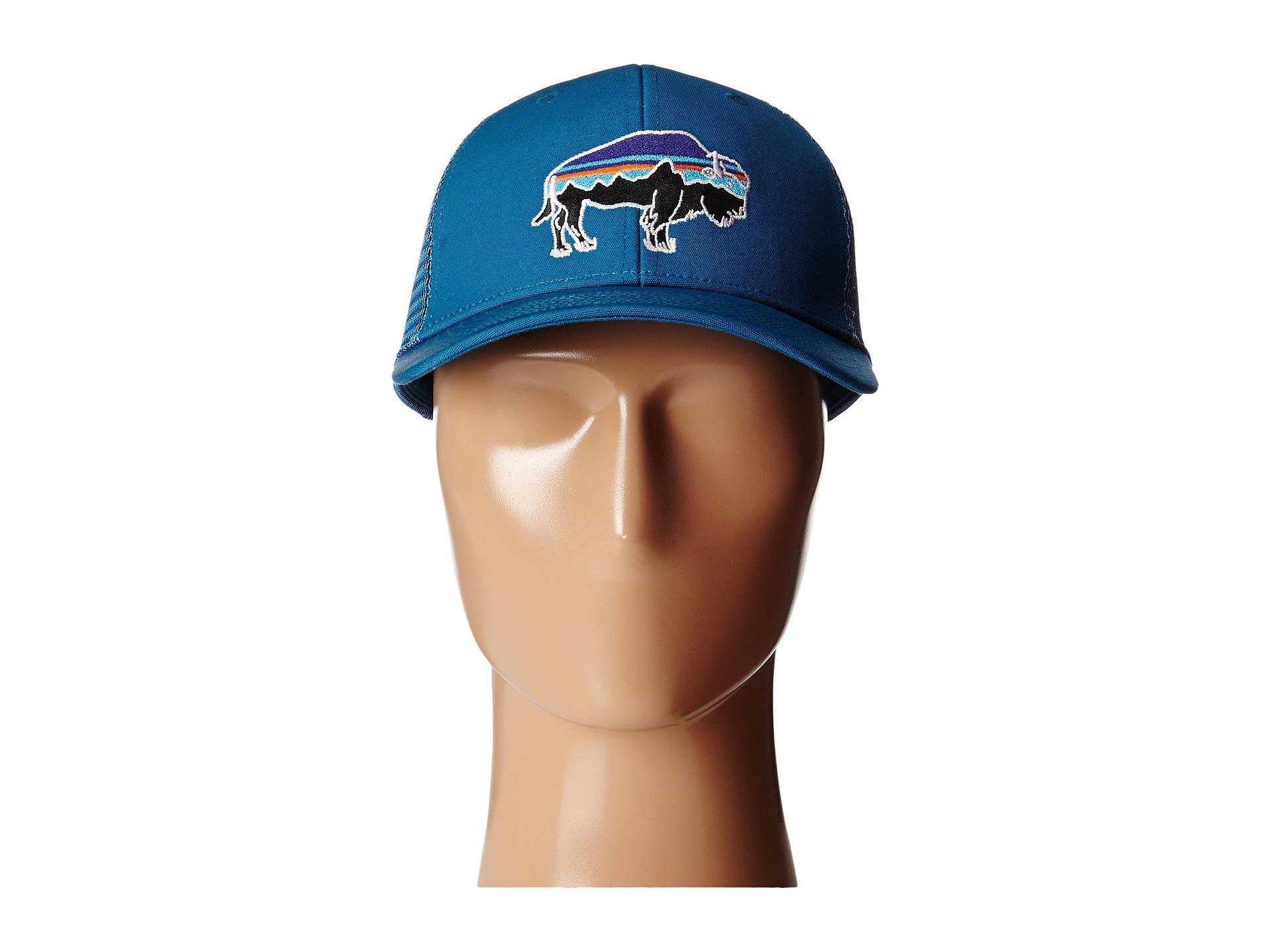 Patagonia Blue Fitz Roy Bison Trucker Hat