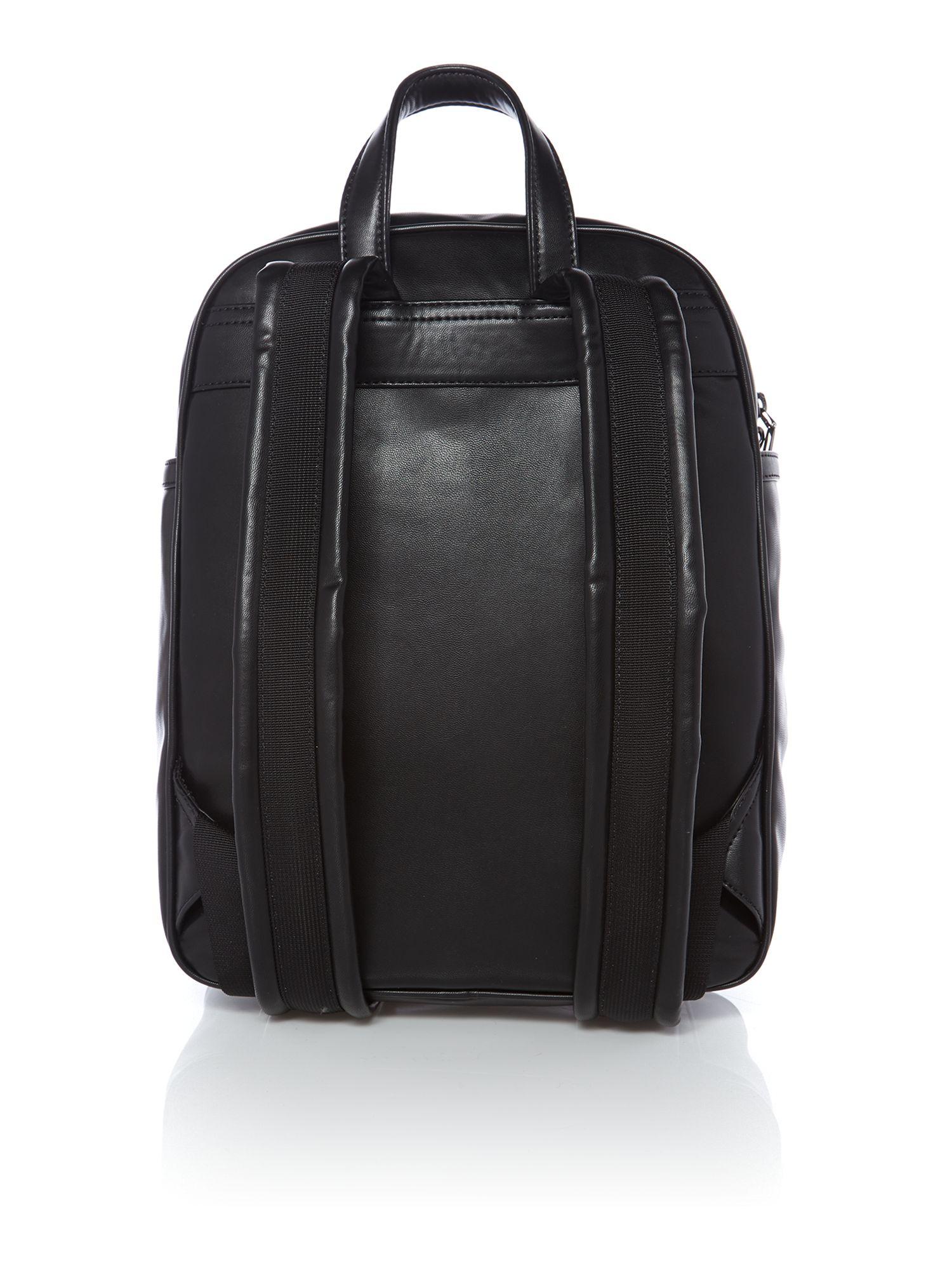 Dkny Metal Letters Black Backpack Bag In Black Lyst