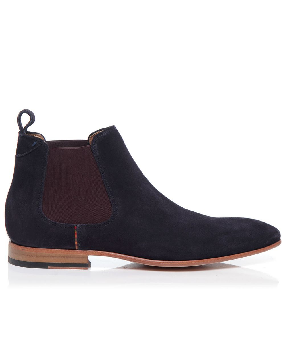 paul smith falconer suede chelsea boots in blue for