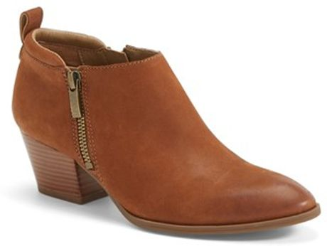 Franco Sarto Granite Leather Boots In Brown Whiskey Brown