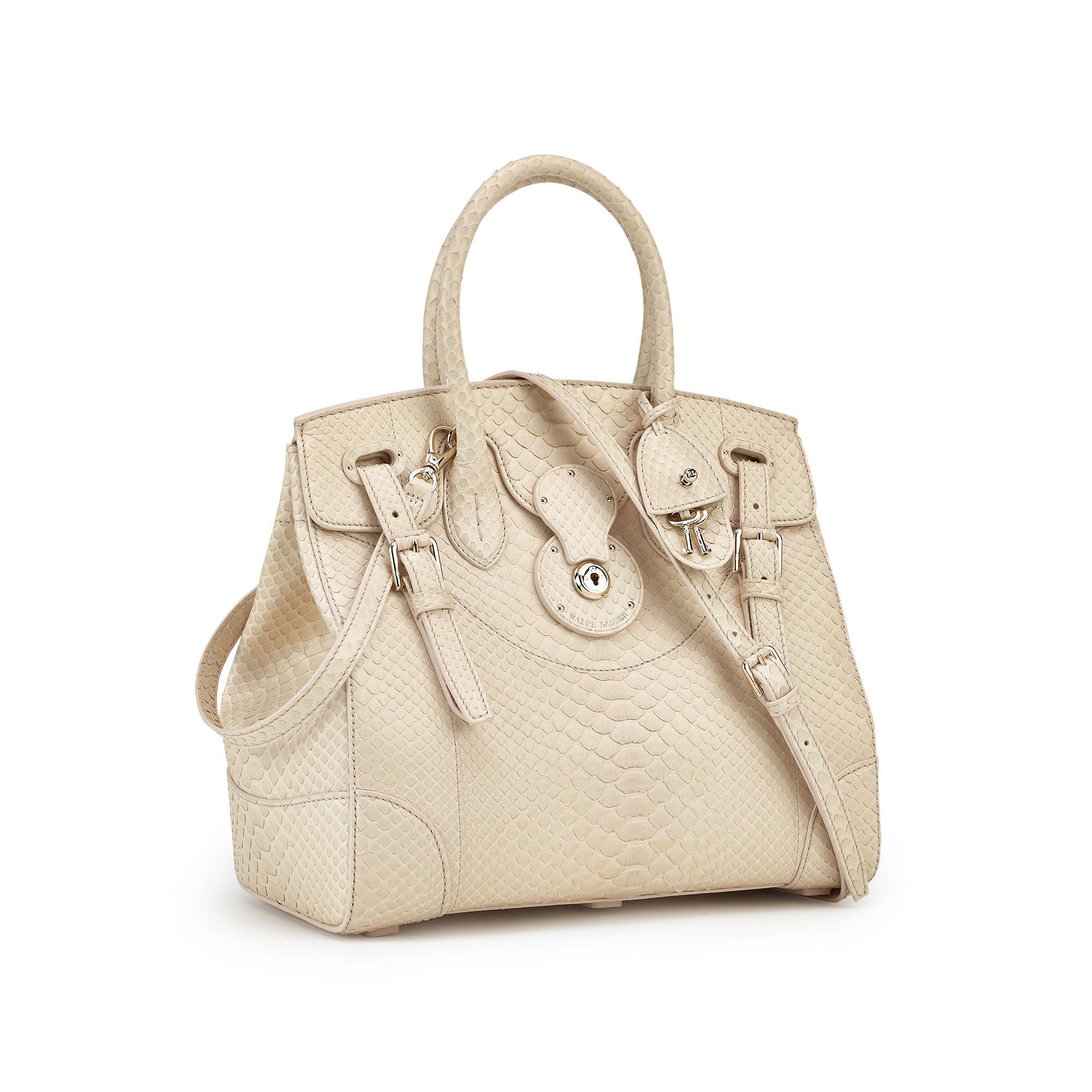 Ralph Lauren Honey Python Soft Ricky Bag in Natural - Lyst c28d6b1d31