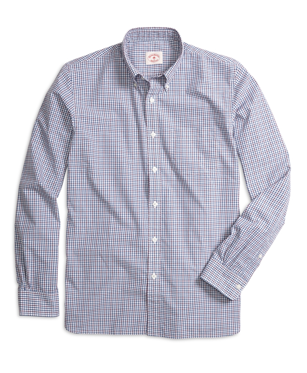 Brooks brothers check sport shirt in blue for men lyst for Brooks brothers sports shirts