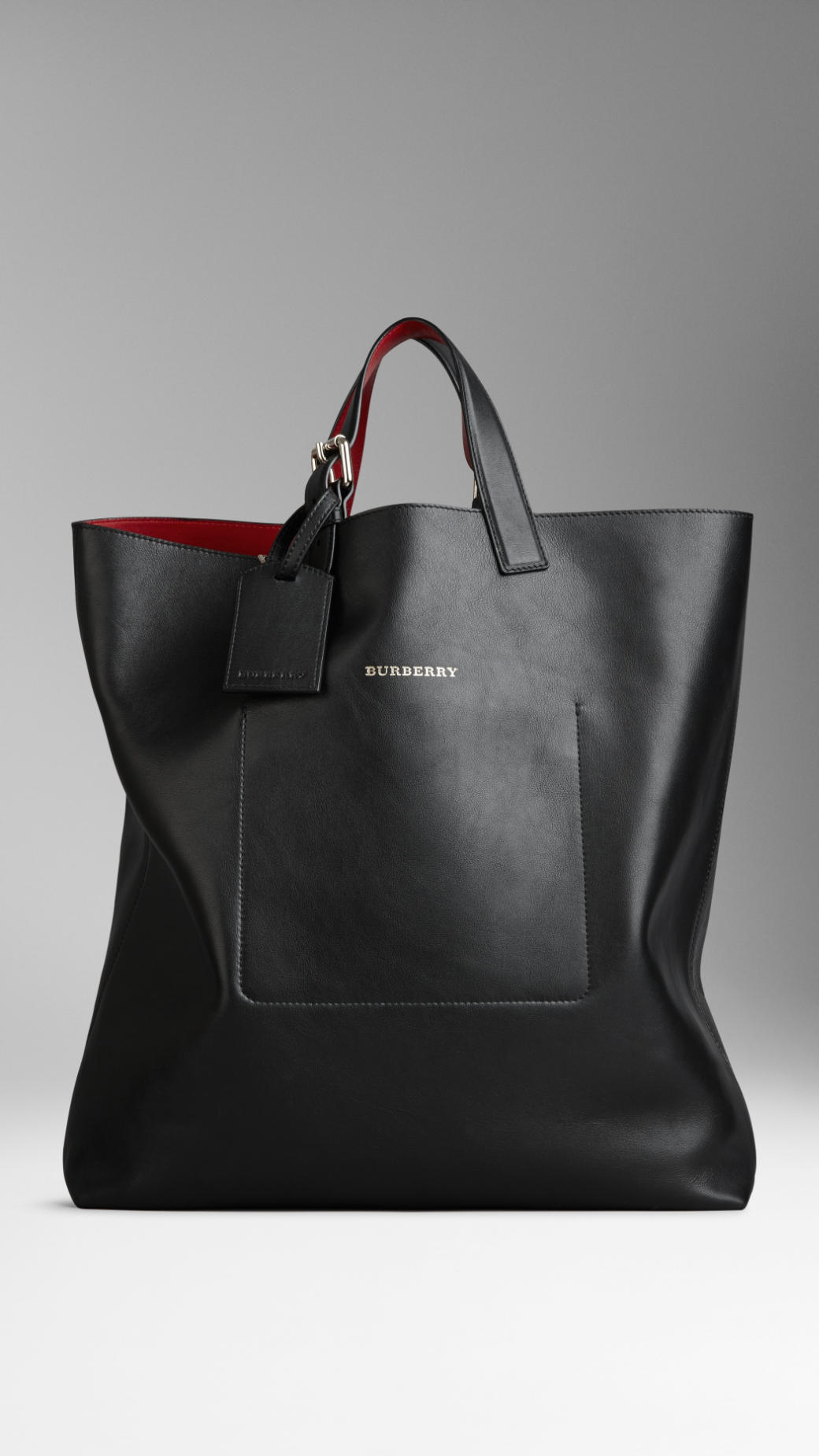 Lyst - Burberry Large Bonded Leather Portrait Tote Bag in ...