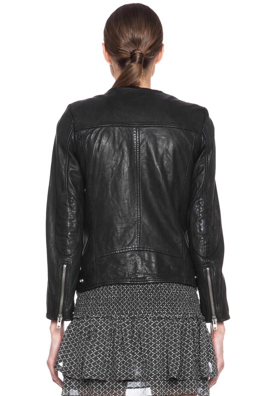 201 Toile Isabel Marant Bradi Washed Lambskin Leather Jacket