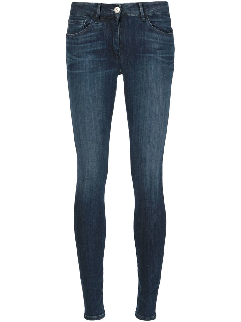 3x1 mid rise skinny jeans in blue lyst. Black Bedroom Furniture Sets. Home Design Ideas
